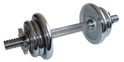 Egykezes kézisúlyzó - 6 kg, krómozott
