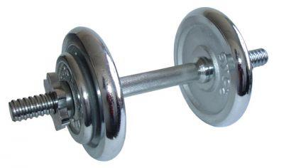 Cserélhető súlyzó egykezes - 8,5 kg krómozott súlytárcsa