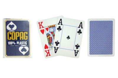 Pőker kártyák Copag Jumbo 4 sarok Blue