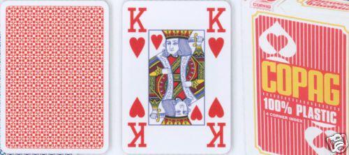 Póker kártyák Copag Jumbo 4 sarok Red