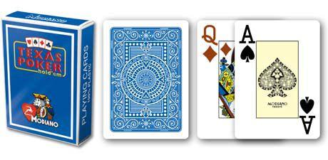 Modiano 2 sarok 100% műanyag kártyák - Kék