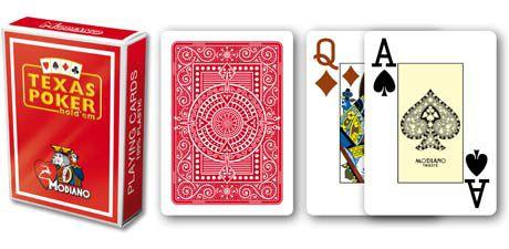Modiano 2 sarok 100% műanyag kártyák - Piros