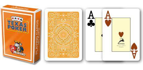 Modiano 2 sarok 100% műanyag kártyák - Narancssárga