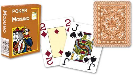 Modiano 4 sarok 100% műanyag kártyák - Barna