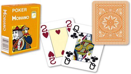 Modiano 4 sarok 100% műanyag kártyák - Narancssárga