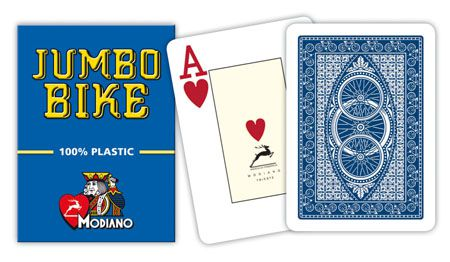 Modiano BIKE TROPHY 2 sarok 100% műanyag kártyák - Kék