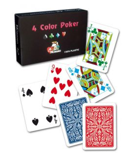 Modiano 2 sarok 100% műanyag kártyák RAMINO 4 COLOR