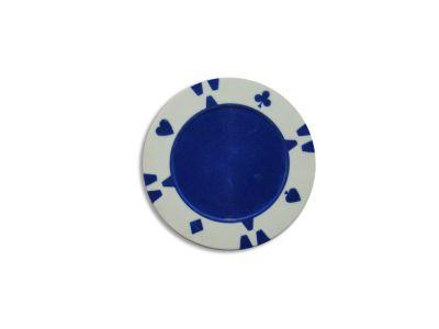 Darabos zseton  design Flop fehér - 1 db
