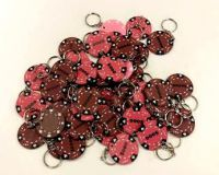 Póker medál 48 db barna/rózsaszín