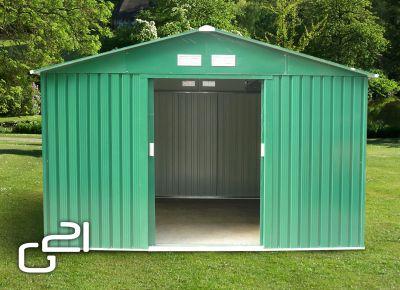 Kerti fém ház G21 GAH 905 - 311 x 291 cm - zöld