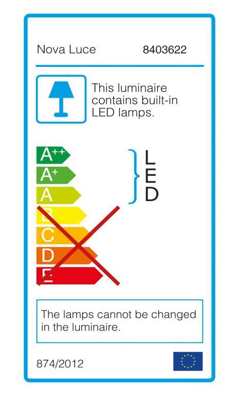Lépcsőfény Nova Luce Luton LED 23 cm