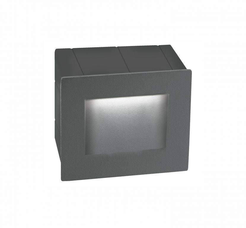 Beépíthető lámpa KRYPTON S STEP GREY 3 3W