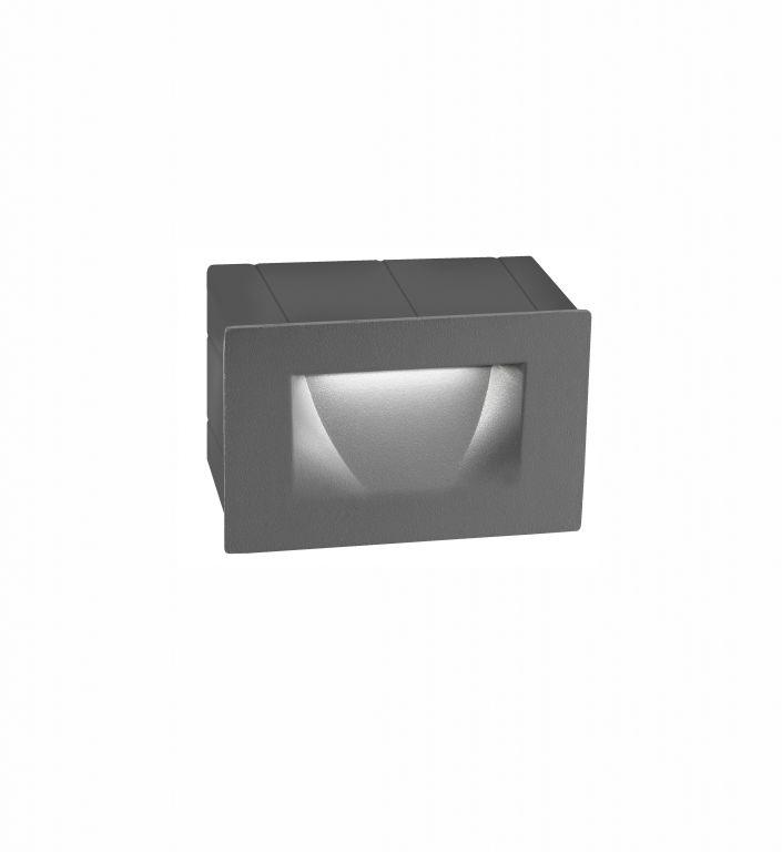 Beépíthető lámpa KRYPTON S STEP GREY 4 3W