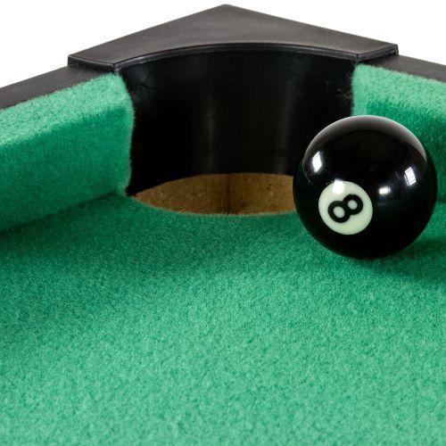 Mini pool biliárd felszereléssel 92 x 52 x 19 cm - fekete