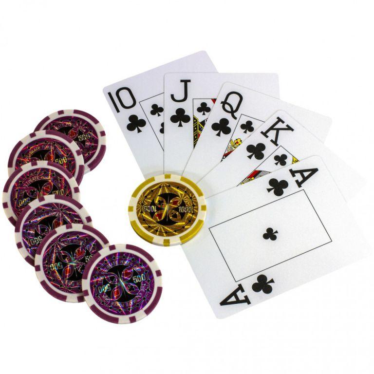 Póker készlet, 500 db lézeres zseton – ULTIMATE