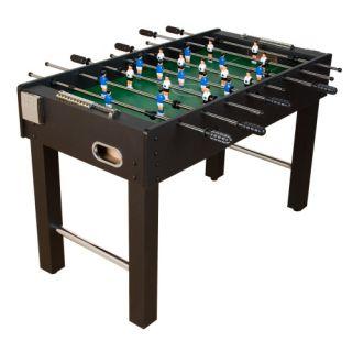 Asztali foci - fekete, MDF 121 x 101 x 79 cm