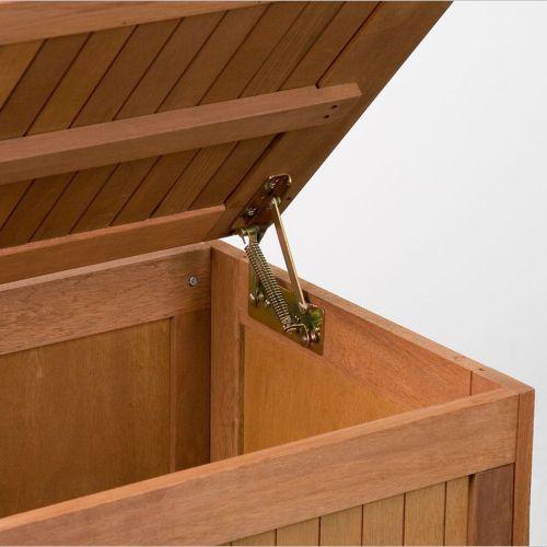 Kerti láda ülőrésszel és párnával, 113 x 52,5 x 60,5 cm