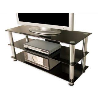 Üvegezett TV asztal NOBLE - fekete