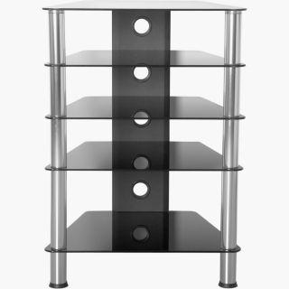 Hifi asztal 88 x 61 x 52 cm védőüveg 61 x 88 x 52 cm