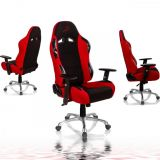 Irodai forgószék RACEMASTER® RS Series - fekete/piros