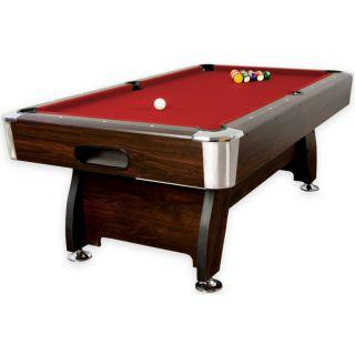 Pool biliárd asztal TUIN 8 ft 244 x 132 cm - piros