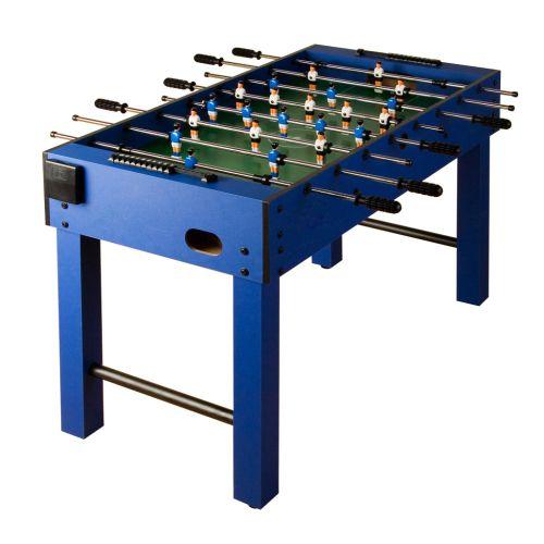 Asztali foci - kék, MDF 121 x 101 x 79 cm