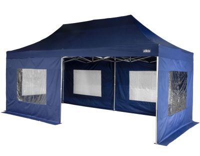 Kerti party sátor - kék 3 x 6 m + oldalfalak
