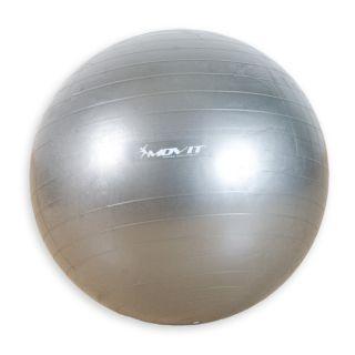 Gimnasztikai labda MOVIT - 65 cm, ezüst