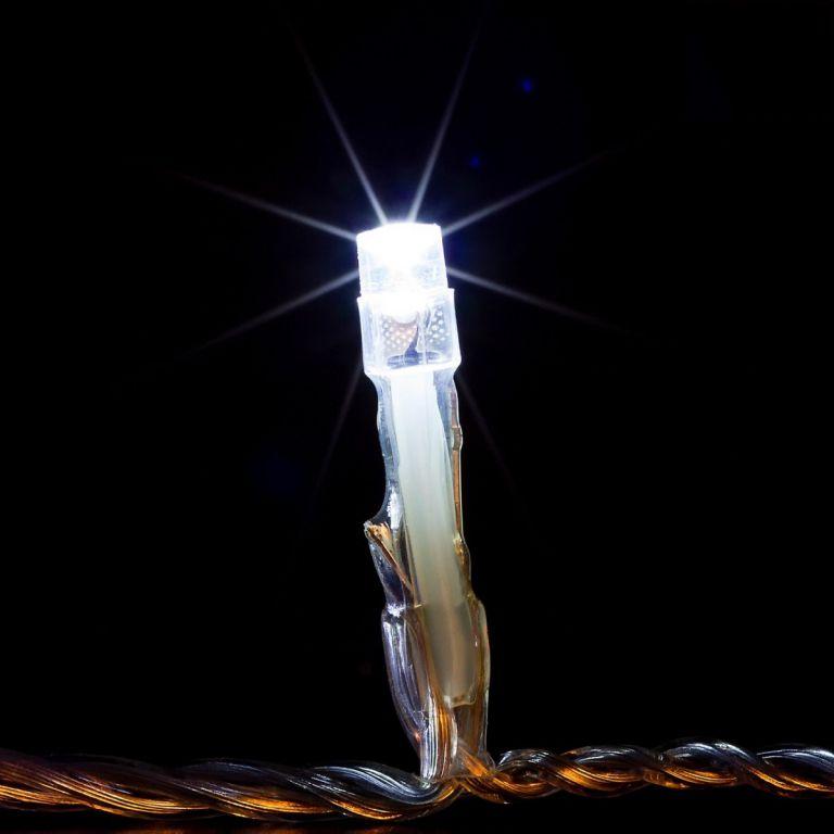 Karácsonyi  LED fényfüzér 10 m - hideg fehér 100 LED
