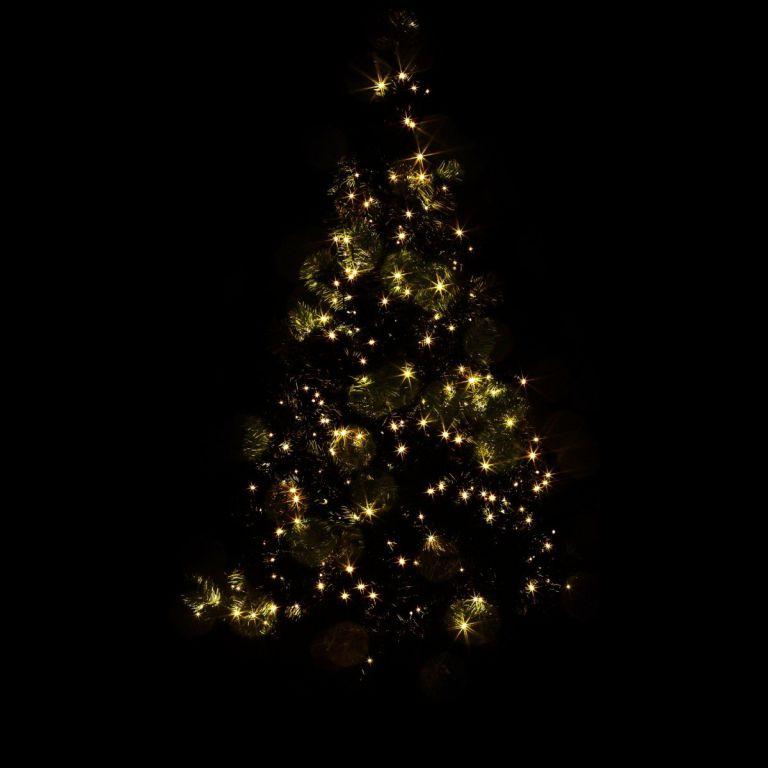 Karácsonyi LED fényfüzér 10 m - meleg fehér 100 LED