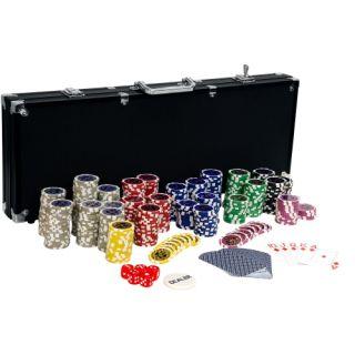 Póker zseton készlet ULTIMATE Black - 500 db