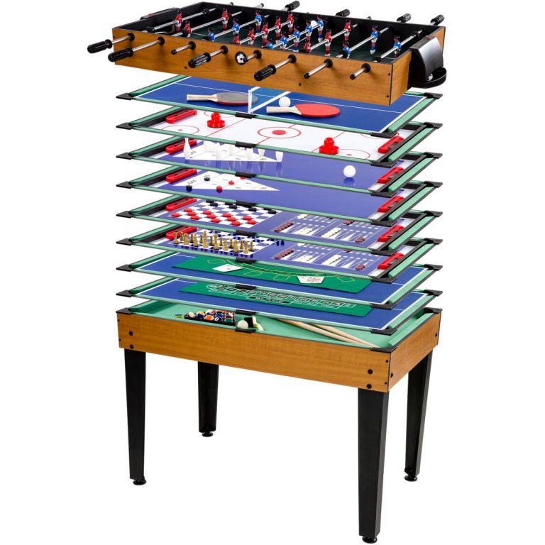 Többfunkciós játékasztal - Muti 15, barna