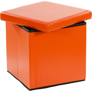Összecsukható zsámoly tároló STILISTA® - narancssárga