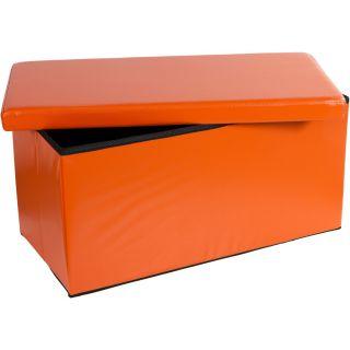 Összecsukható pad tároló helyel - narancssárga