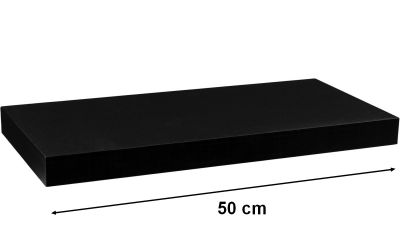 Fali polc  STILISTA VOLATO - fekete 50 cm