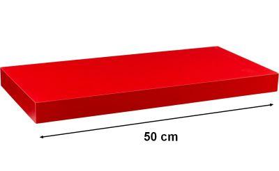 Fali polc STILISTA VOLATO - červená 50 cm