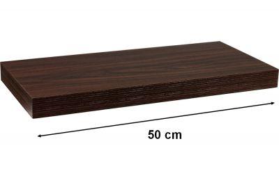 Fali polc STILISTA VOLATO - sötét fa 50 cm