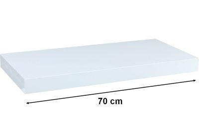 Fali polc  STILISTA VOLATO - fényes fehér 70 cm