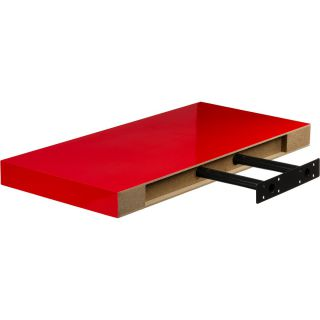 Fali polc STILISTA® Volato 110 cm - piros fényes
