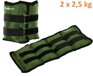 MOVIT bokasúly, 2 x 2,5 kg - zöld