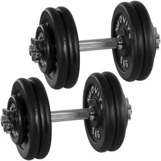 Egykezes súlyzó szett, öntvény - MOVIT 2 x 25 kg