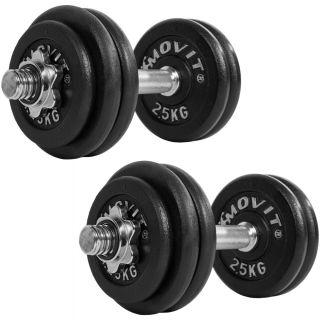 Egykezes súlyzó szett MOVIT® - 60 kg