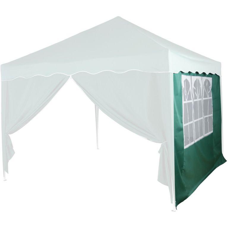 Pavilon oldalfal INSTENT® ablakkal 3 x 3 m Zöld