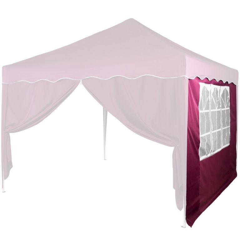 Pavilon oldalfal INSTENT® ablakkal 3 x 3 m Burgundi