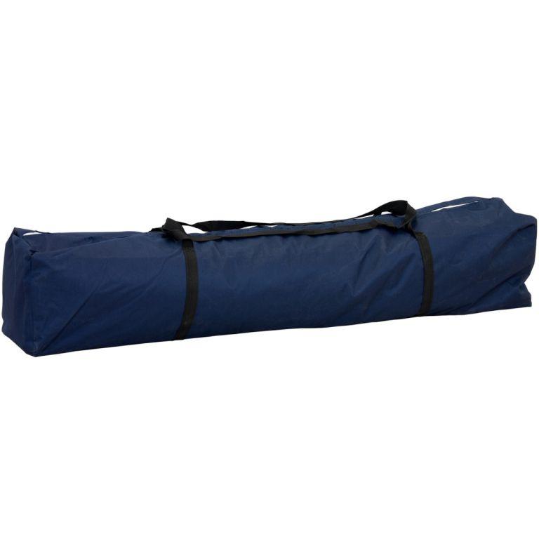 Kerti party sátor lábkkal 3x3 m + 4 oldalfal - kék
