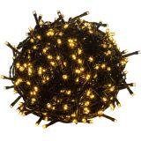 Karácsonyi LED világítás 10 m - meleg fehér 100 LED - zöld kábel