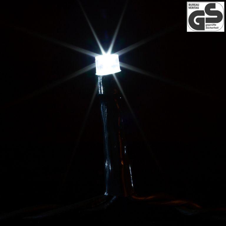 Karácsonyi LED világítás 20 m - hideg fehér 200 LED - zöld kábel