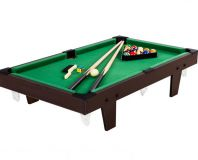 Mini pool biliárd felszereléssel 92 x 52 x 19 cm - barna