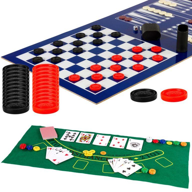 Többfunkciós játékasztal - Multi 15, sötét barna