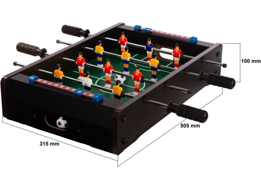 Mini asztali foci TUIN - fekete